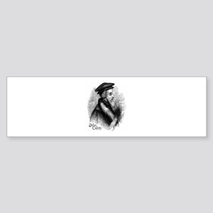 John Calvin Profile Bumper Sticker