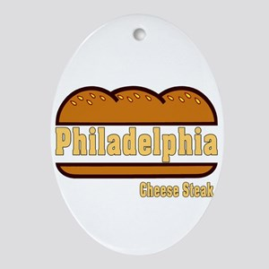 Philly Cheesesteak Oval Ornament