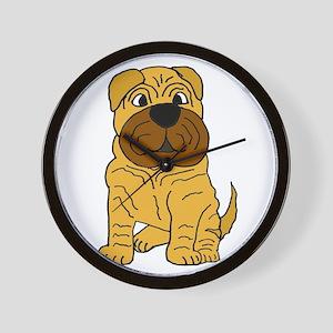 Funny Shar Pei Puppy Dog Wall Clock