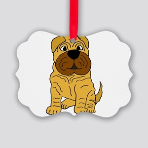 Funny Shar Pei Puppy Dog Picture Ornament