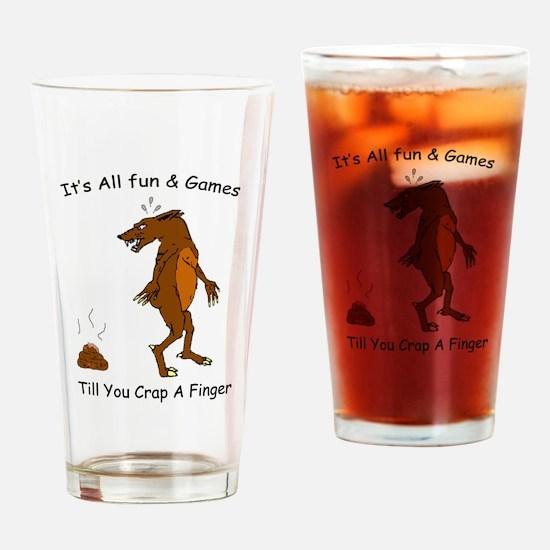 crap_finger_darker_blk.png Drinking Glass