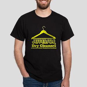 Jefferson Cleaners Yellow Logo Dark T-Shirt