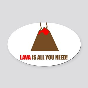 funny volcano Oval Car Magnet