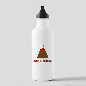 funny volcano Water Bottle