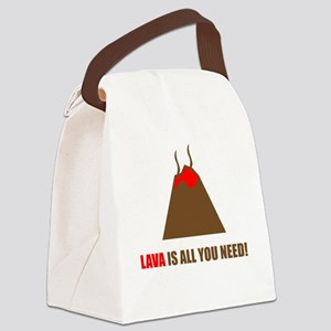 funny volcano Canvas Lunch Bag