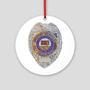 California Motor Vehicle Department Round Ornament