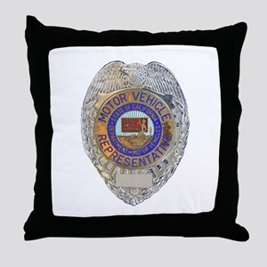 California Motor Vehicle Department Throw Pillow