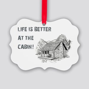 LIFE IS BETTER... Picture Ornament