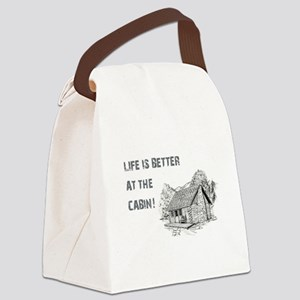 LIFE IS BETTER... Canvas Lunch Bag