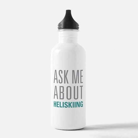 Heliskiing Water Bottle