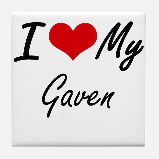 I Love My Gaven Tile Coaster
