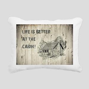 LIFE IS BETTER... Rectangular Canvas Pillow