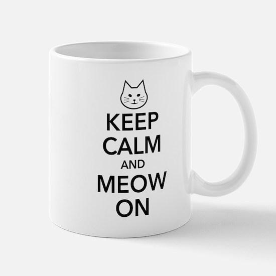 Keep Calm and Meow On Mugs