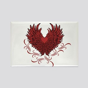 Winged heart Magnets