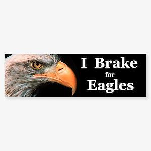 I Brake For Eagles Bumper Sticker