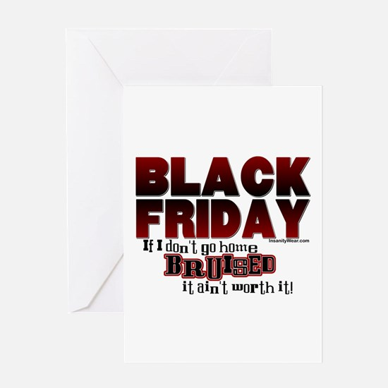 Black Friday Bruised Greeting Card