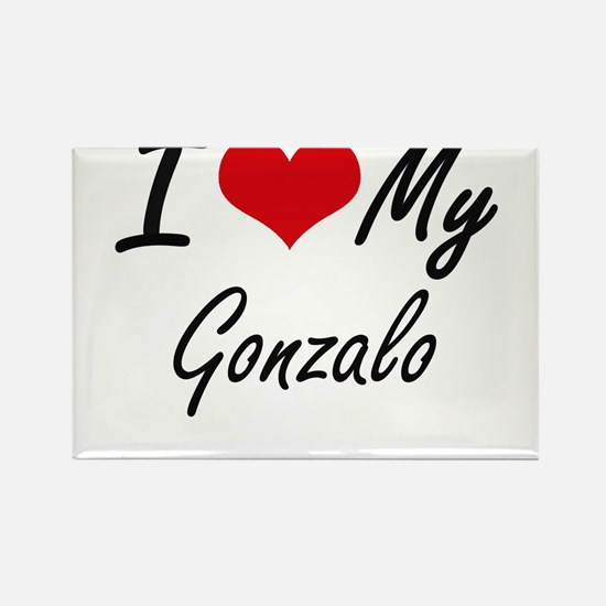 I Love My Gonzalo Magnets