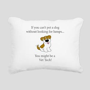 Doglumplt Rectangular Canvas Pillow