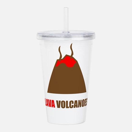 Funny volcanoes Acrylic Double-wall Tumbler