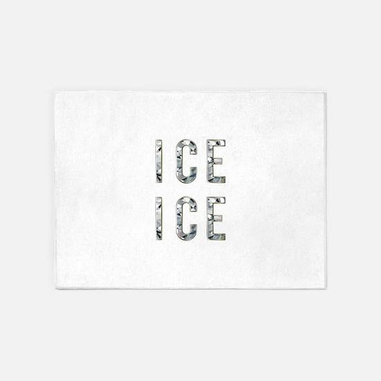 Ice Ice Baby 5'x7'Area Rug