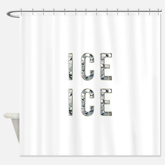Ice Ice Baby Shower Curtain