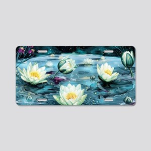 Lotus Pond Aluminum License Plate