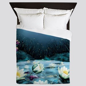 Lotus Pond Queen Duvet