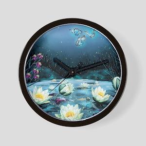 Lotus Pond Wall Clock