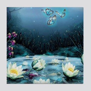 Lotus Pond Tile Coaster