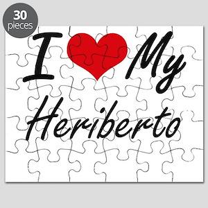 I Love My Heriberto Puzzle