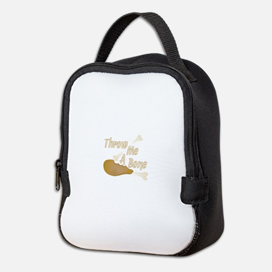 Throw Me Bone Neoprene Lunch Bag