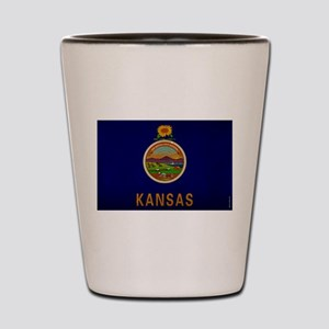 Kansas State Flag VINTAGE Shot Glass