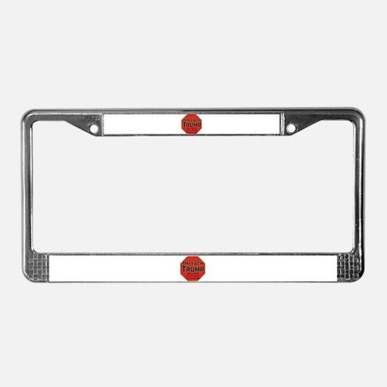 Impeach Trump License Plate Frame