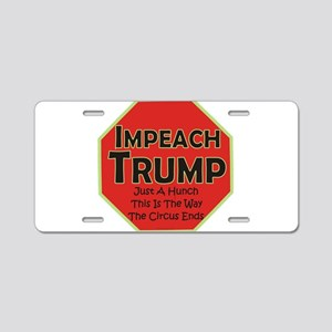 Impeach Trump Aluminum License Plate