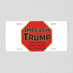 Impeach Trump Aluminum License Plate