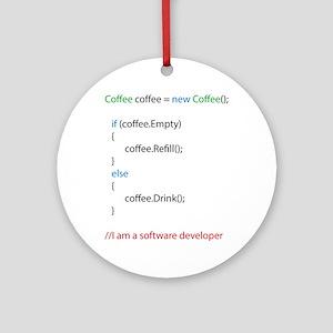 Everyone needs coffee Round Ornament