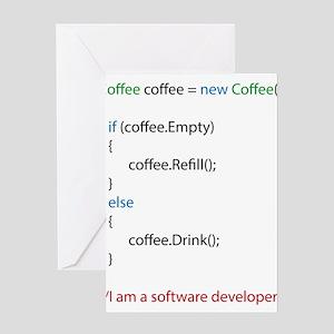 Everyone needs coffee Greeting Cards