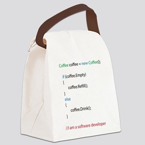 Everyone needs coffee Canvas Lunch Bag