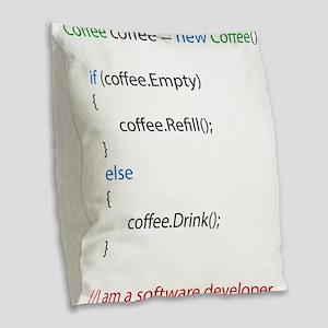 Everyone needs coffee Burlap Throw Pillow