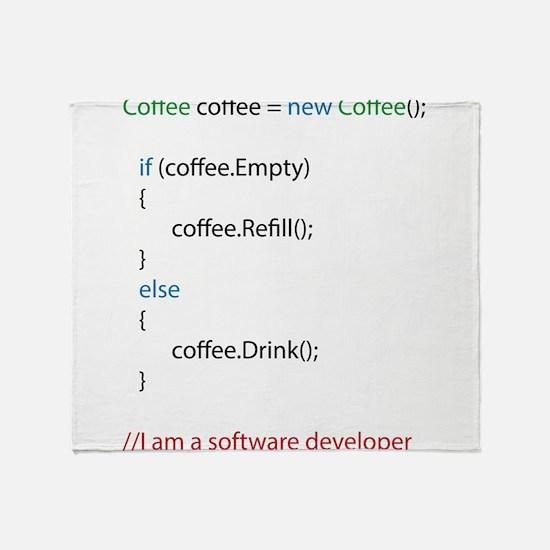 Everyone needs coffee Throw Blanket