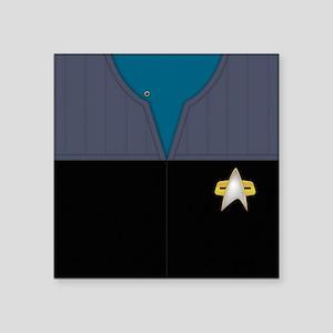 "Star Trek DS9 Sci Chief PO Square Sticker 3"" x 3"""