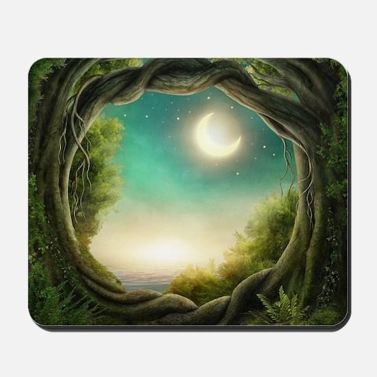 Magic Moon Tree Mousepad