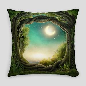Magic Moon Tree Everyday Pillow