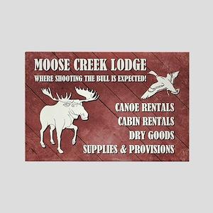 MOOSE CREEK LODGE Rectangle Magnet
