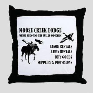 MOOSE CREEK LODGE Throw Pillow