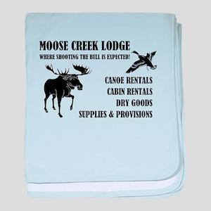 MOOSE CREEK LODGE baby blanket