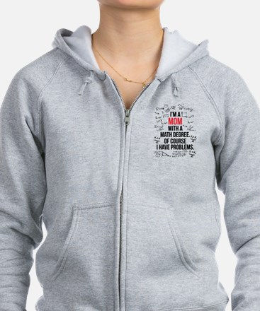 Mom Math Degree Zip Hoodie