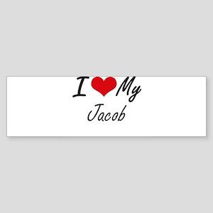 I Love My Jacob Bumper Sticker