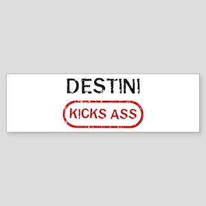 DESTINI kicks ass Bumper Sticker