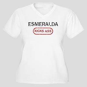ESMERALDA kicks ass Women's Plus Size V-Neck T-Shi